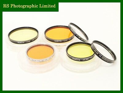 Mamiya Filters x6 40.5mm & 49mm, Orange, Yellow & UV. Stock No U8001