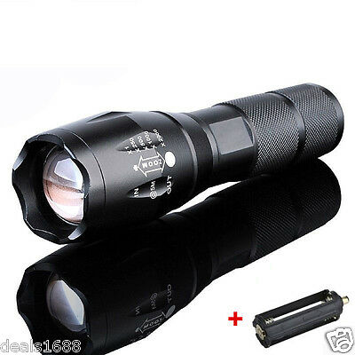 10000Lumen LED 18650/AAA Flashlight Zoomable Torch Focus Flashlight Lamp Gift UP