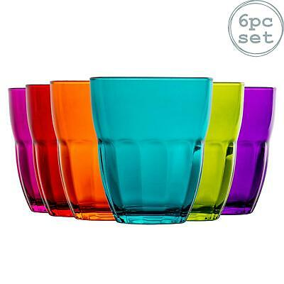 Bormioli Rocco Ercole Coloured Tumbler Glasses - 230ml - Multi Coloured x6