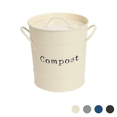 Metal Garden / Greenhouse Compost Soil Bin - Cream