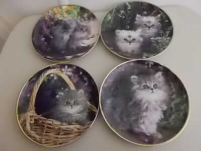 4 Collector Cat Plates - Nancy Matthews