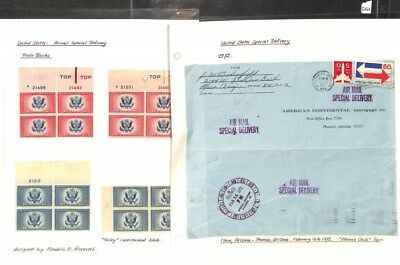 Q424 - USA 20th Century Special Delivery Stamps and Covers
