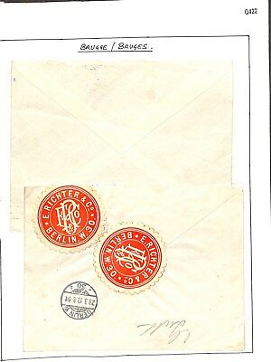 Q422-Belgium Air/Registered Cover Selection – Used