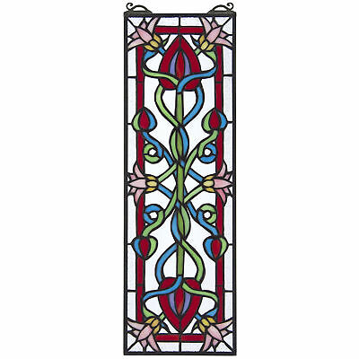 Design Toscano Dahlia Stained Glass Window Panel