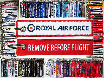 Keyring RAF ROYAL AIR FORCE Remove Before Flight tag keychain