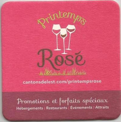 Canadian EASTERN TOWNSHIPS SPRINGTIME ROSE PRINTEMPS GOURMAND BAR COASTER