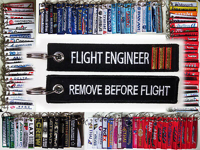 Keyring FLIGHT ENGINEER F/E Flight Technician Before Flight keychain