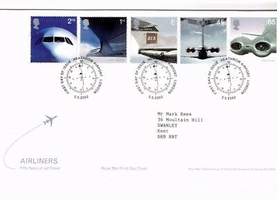 2002 Airliners - Heathrow Airport Special H/s Fdc From Collection 2B/13