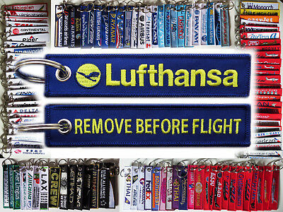 Keyring LUFTHANSA Remove Before Flight tag keychain for Pilot Crew Ground Staff