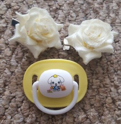 reborn baby customised magnetic dummy & FREE HAIR CLIPS, look!!!