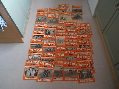 40 Speedway News From 1951, 52, 53, And 1954.