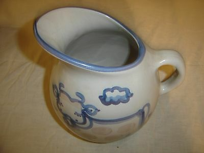 M A Hadley Country Scene  Pitcher with Cow 8506