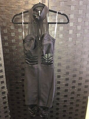 House Of Cb Black Dress Worn Once RRP £129 Size XS