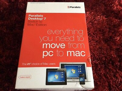 Parallels Desktop 7 Switch To MAC Edition Boxed With All Accessories - BARGAIN!
