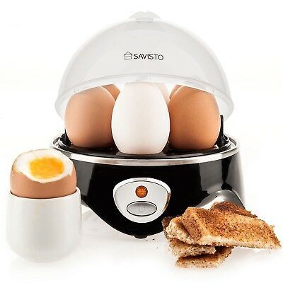Savisto Electric Egg Boiler with Poacher, Steamer and Omelette Maker Attachments