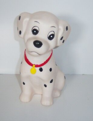 "Disney 101 Dalmations Vinyl Coin Bank 6.5"" - Vintage"