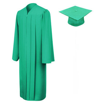 Green Graduation Cap & Gown Clearance - Eco-Friendly Fabric