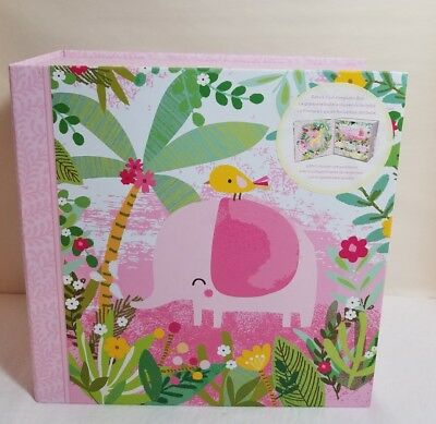 Lady Jayne Baby's First Keepsake Box 6 Drawer Storage Compartments Pink Elephant