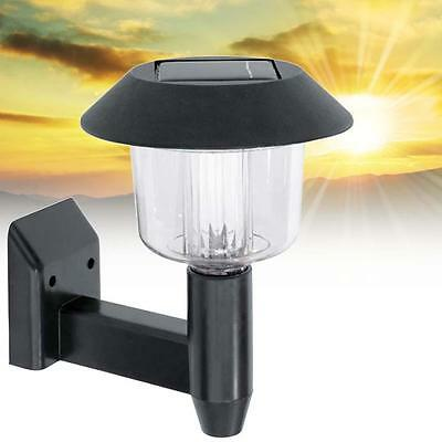 Solar Powered Wall Light Auto Sensor Fence LED Garden Yard Fence Lamp Outdoor U#
