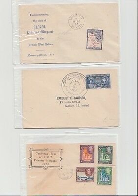 3 Covers, Princess Margaret Caribbean Tour 1955 & Newfoundland King George Cover