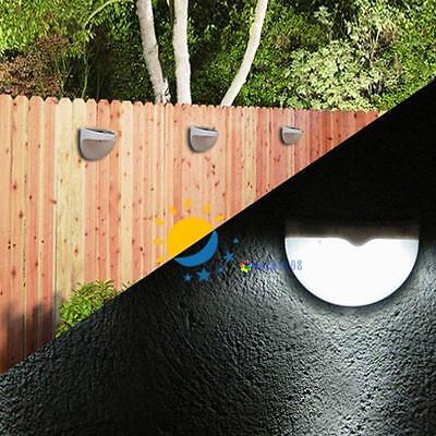 6-LED Outdoor Garden Solar Power Power Light Gutter Fence Yard Lamp Wall RoofV U