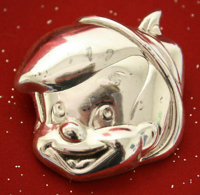 VTG DLC Walt Disney Pinocchio Sterling Silver Weighted Pin, Pendant or Ornament!