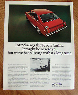 1972 Toyota Carina Ad  Introducing