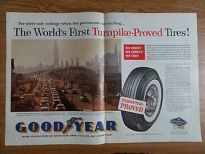 1959 Goodyear Tire Ad The Long Island Expressway Queens Midtown Tunnel Manhattan