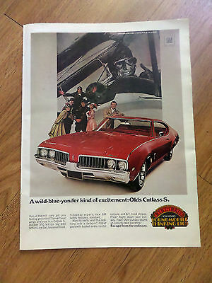 1969 Oldsmobile Olds Cutlass S Ad