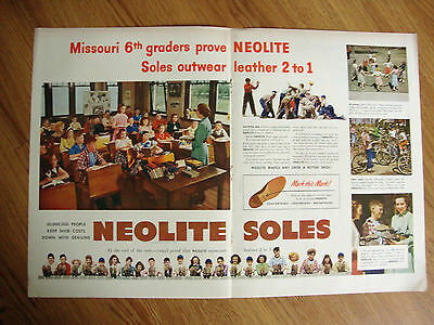 1949 Neolite Soles Ad Missouri 6th Graders Teacher Evelyn Russell Ballantine Ale