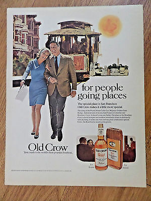 1969 Old Crow Whiskey Ad Special Place is San Francisco California