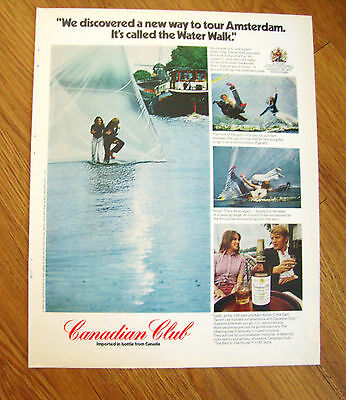 1972  Whiskey Ad Water Walk in Amsterdam