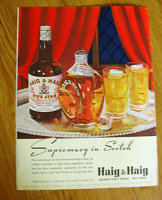 1938 Haig & Haig Whiskey Ad   Supremacy in Scotch