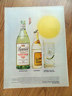 1963 Ronrico from Puerto Rico The Dry Rum Ad