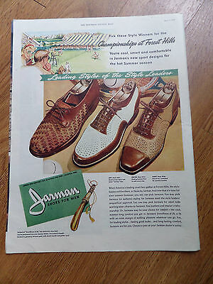 1947 Jarman Shoe Shoes Ad Championships Tennis at Forest Hills
