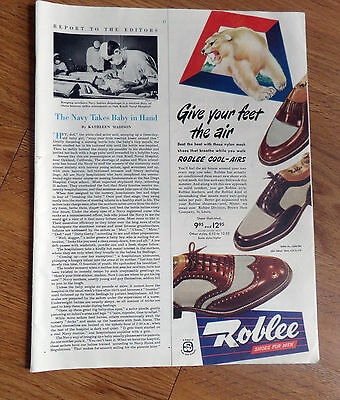 1950 Roblee Shoes Ad   Roblee Cool-Airs