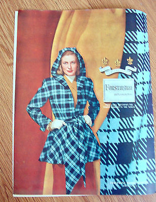 1946 Forstmann 100% Virgin Wool Fashion Ad