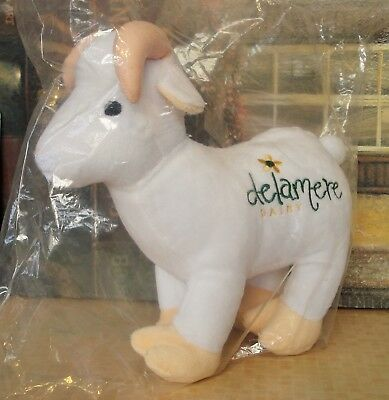 DELAMERE CUDDLY SOFT TOY BABY GOAT WHITE 22x22cm NEW IN SEALED PACKAGING CE MARK