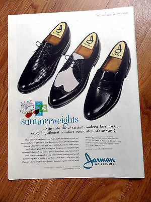 1960 Jarman Shoes for Men Ad  Summerweights