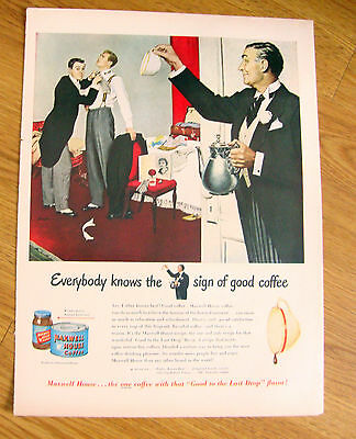 1950 Maxwell House Coffee Ad Father knows Best!