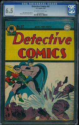 Detective Comics 97 CGC 6.5 OW/W Golden Age Batman Key Comic L@@K