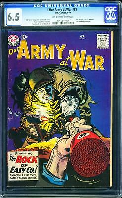 Our Army At War 81 CGC 6.5 OW/W Key Silver Age Comic Intro Sgt Rock RARE L@@K!!