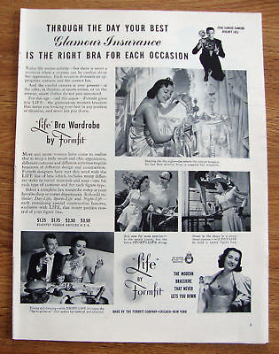 1940 Formfit Life Bra Ad Glamour Insurance