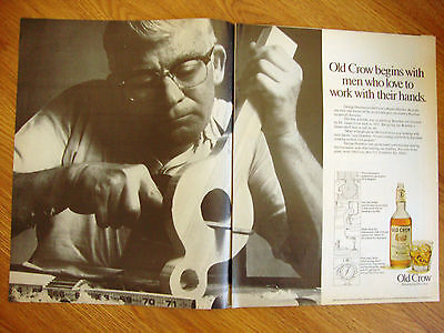 1970 Old Crow Whiskey Ad Begins With Men who Love to Work with Their Hands