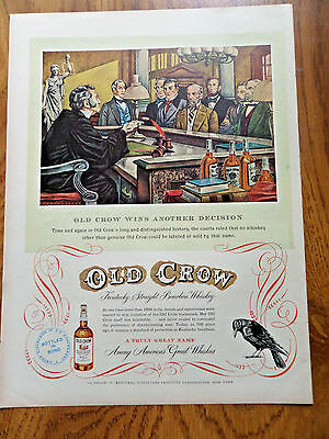 1950 Old Crow Whiskey Ad Wins Another Decision Courts Judge