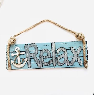 "Nautical Wall Decor with Anchor ""RELAX"" for kids/ baby room(12-3 inches)"