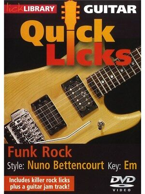 Lick Library: Nuno Bettencourt Quick Licks - Funk Rock. Guitar DVD (Region 0)