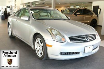 2004 Infiniti G35 Base Coupe 2-Door 2004 Coupe Used Gas V6 3.5L/213 5-Speed Automatic w/OD RWD Gray