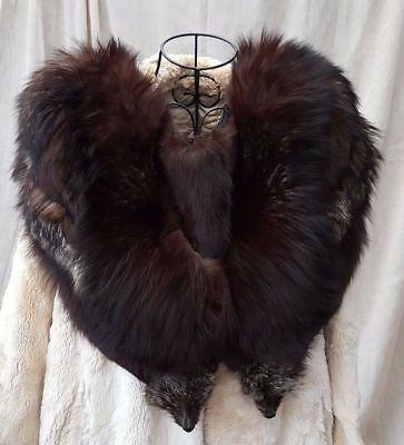 1950 Vintage Mink Stole Fur With Heads Tails & Claws