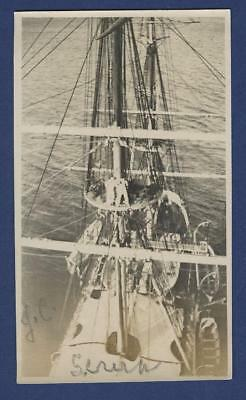 Sailing Ship Deck View Aux Barque Severn Port Glasgow Russell's Missing Sail